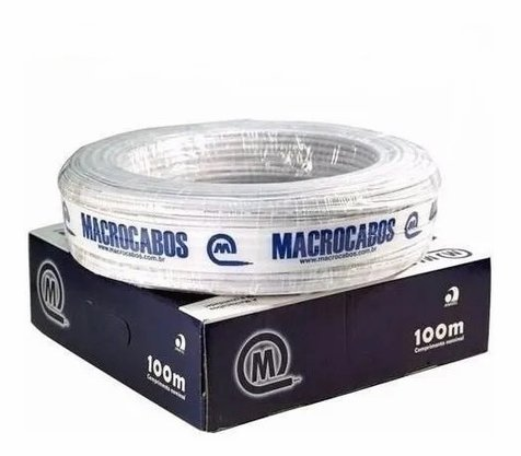 Cabo Fio para Alarme e/ou Interfone 2 Pares 4 Vias Multicor 0,40mm - Rolo 100m