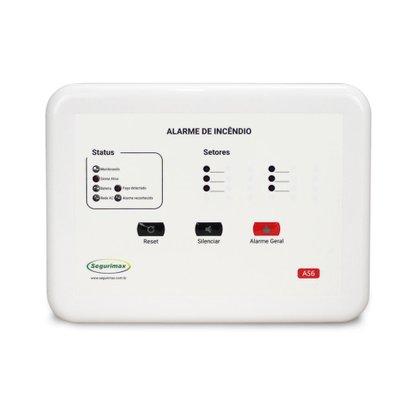 Central de Alarme de Incêndio Convencional 12V com Bateria Inclusa - 6 SETORES - Segurimax