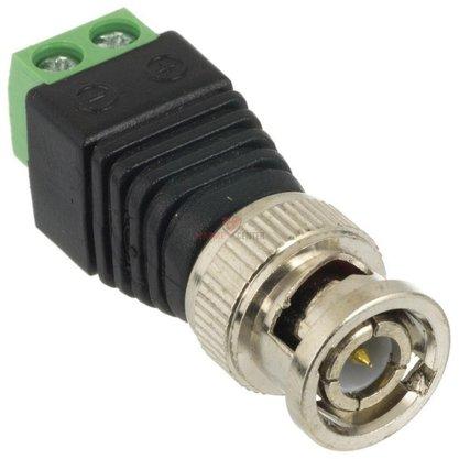 Conector Plug BNC Macho com Borne para CFTV - Unitário