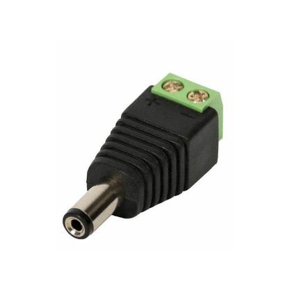 Conector Plug P4 Macho com Borne para CFTV - Unitário