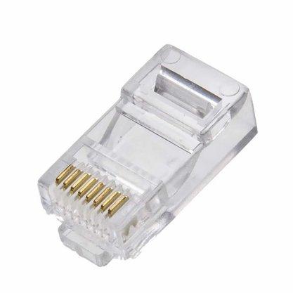 Plug conector RJ45 Macho para cabo de rede - Unitário