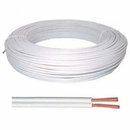 Cordão Fio Paralelo 2X1,00mm² Branco -  Corfio/Cobrecom* - Rolo 100m