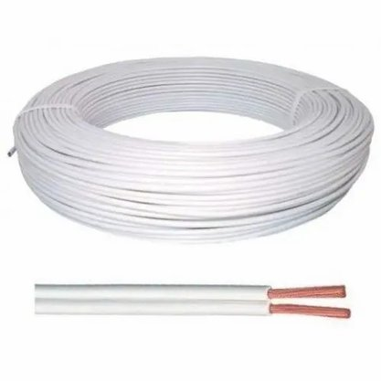 Cordão Fio Paralelo 2X1,50mm² Branco - Corfio/Cobrecom* - Rolo 100m