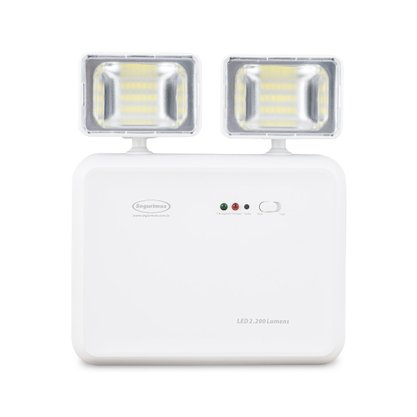 Iluminação de Emergência LED 2200 Lumens 2 Faróis - Segurimax