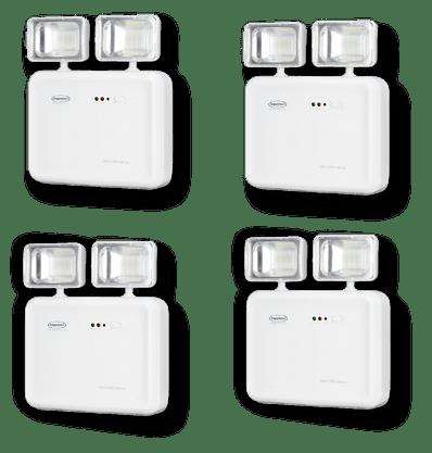 Kit Iluminação de Emergência LED 1200 Lúmens 2 Faróis - Segurimax - 4 Unidades