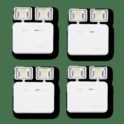 Kit Iluminação de Emergência LED 2200 Lumens 2 Faróis - Segurimax - 4 Unidades