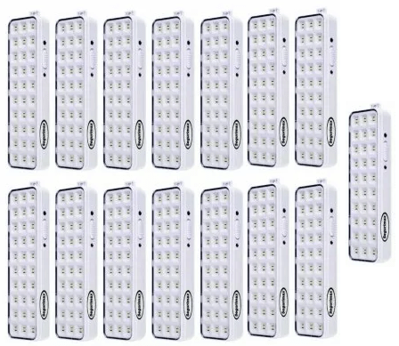 Kit Luminária 30 Led Slim - Segurimax - 15 unidades