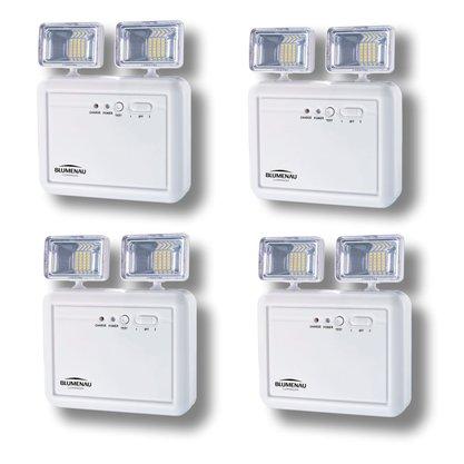 Kit Luminária de Emergência LED 2 Faróis 2200 Lúmens - Blumenau - 4 unidades