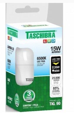 Lampada Bulbo Led 15W 6500K - Taschibra - Bivolt