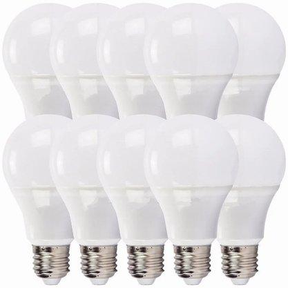 Kit Lampada Bulbo Led 4.7W 6000K - Bivolt - Branco Frio - 10 unidades