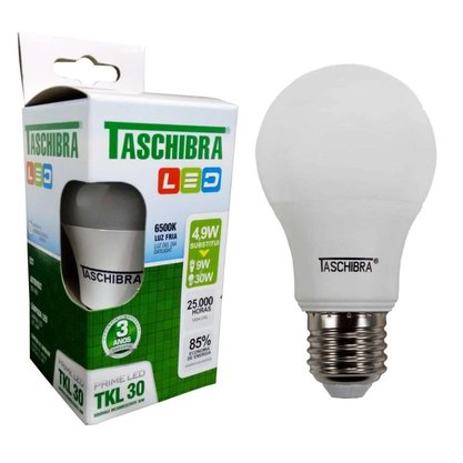 Lampada Bulbo Led 4,9W 6500K - Taschibra - Bivolt