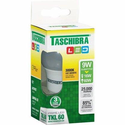 Lampada Bulbo Led 9W 3000K - Tashibra - Bivolt