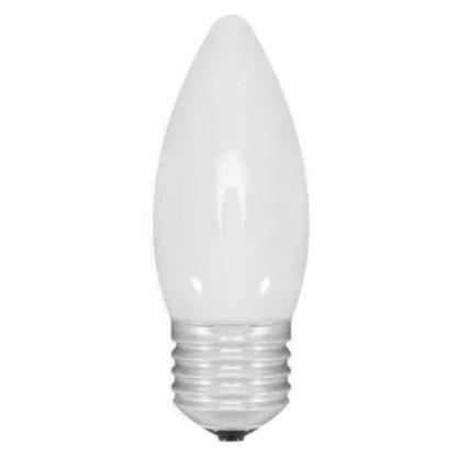 Lampada Vela Lisa Leitosa 40W - 220V - E27