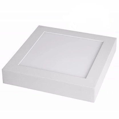 Luminaria Led Plafon Sobrepor 220X220 18W 3000K - Branco Quente