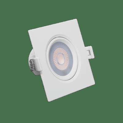 Luminaria Led Spot Embutir Quadrado MR16 5W 2700K - RomaLux - Branco Quente