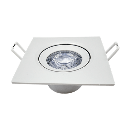 Luminária Led Spot Embutir Quadrado MR16 5W/6W 6500K - Branco Frio
