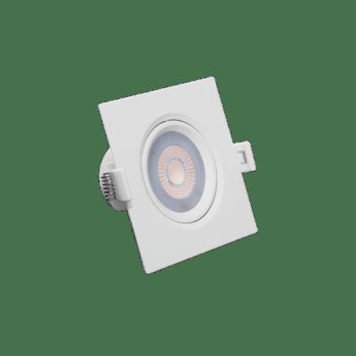 Luminaria Led Spot Embutir Quadrado MR11 3W 2700K - RomaLux - Branco Quente