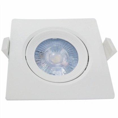 Luminaria Led Spot Embutir Quadrado PAR20 7W 3000K - Branco Quente