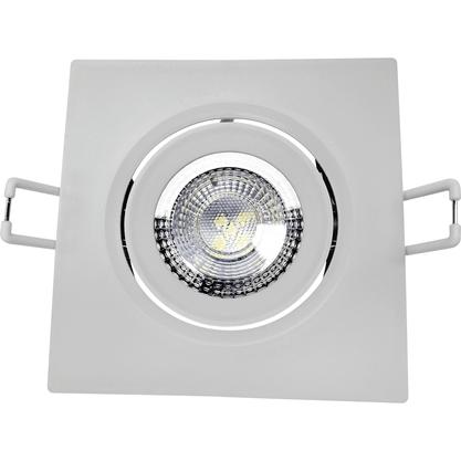 Luminária Led Spot de Embutir Quadrado MR11 3W 3000K - Branco Quente