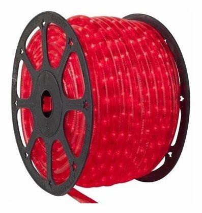 Mangueira Decorativa Led 220V Vermelho - Rolo 100 metros