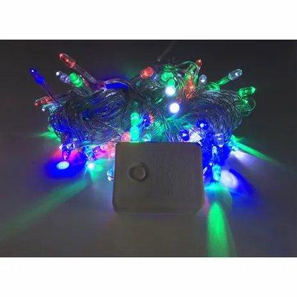 Pisca Natal 100 Leds Color c/8 Funções -  220v