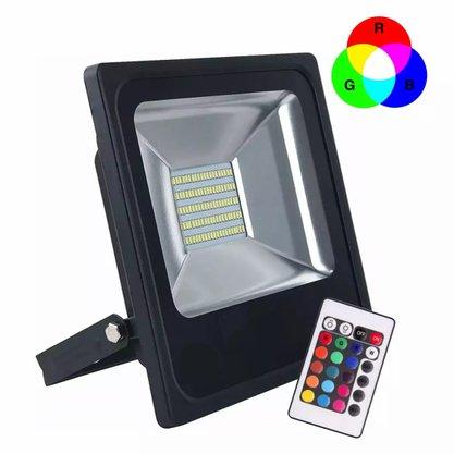 Refletor Holofote Led Bivolt - 10W - RGB