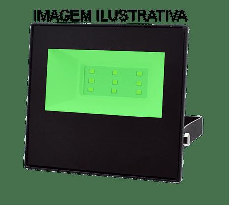 Refletor Holofote Led Bivolt - 10W - Luz Verde