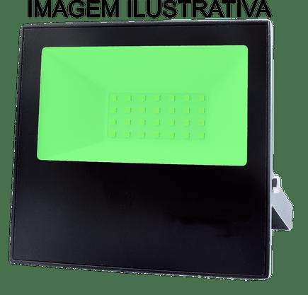Refletor Holofote Led Bivolt - 30W - Luz Verde