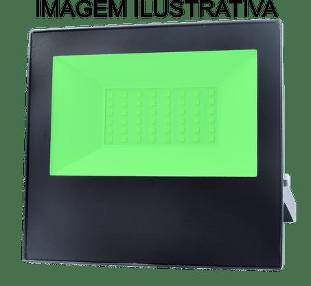 Refletor Holofote Led Bivolt - 100W - Luz Verde