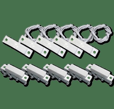 Sensor Magnético Com Fio de Sobrepor Branco - Pacote com 5 conjuntos