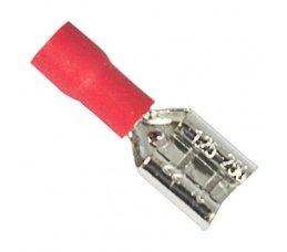 Terminal Pré-Isolado Fêmea Para Cabo 1,5mm² - Vermelho