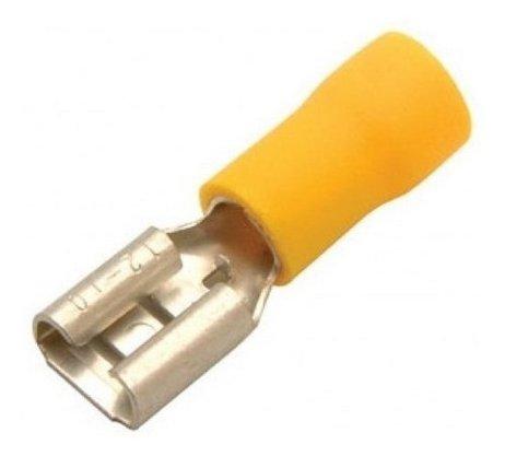 Terminal Pré-Isolado Fêmea Para Cabo 6,0mm² - Amarelo