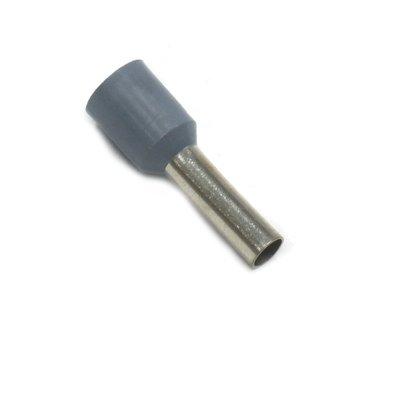 Terminal Tubular Ilhós 0,75mm² - Cinza