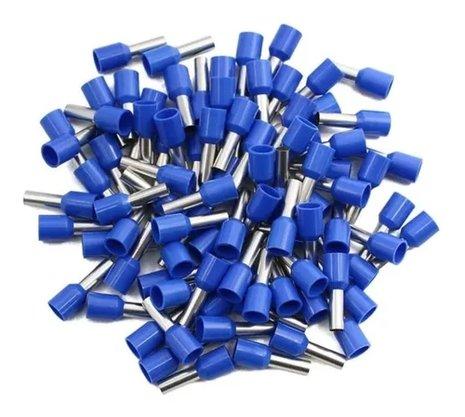 Terminal Tubular Ilhós 2,5mm² - Azul - 100 Unidades