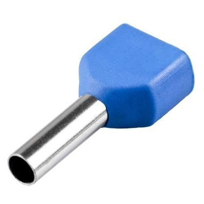 Terminal Tubular Ilhós Duplo 16,0mm² - Azul