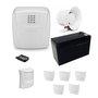 Kit Central de Alarme 10 setores + Sirene + Bateria + 1 controle + 5 sensor magnético s/ fio + 1 Sensor Infrevermelho s/ fio*