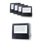 Kit Refletor Holofote Led Bivolt - 100W 6500K - Branco Frio - 5 unidades