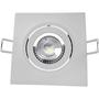 Luminária Led Spot Embutir Quadrado MR16 5W/6W 3000K - Branco Quente
